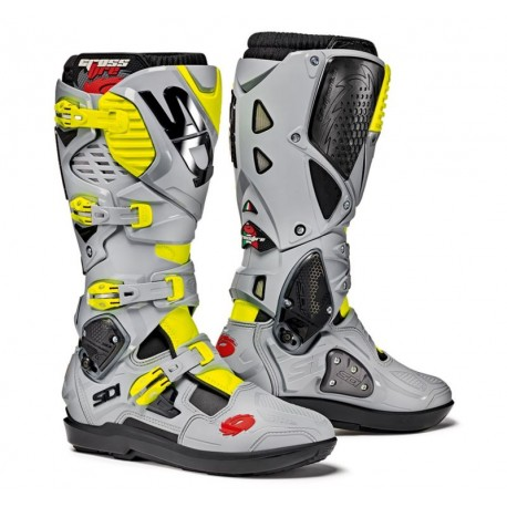 SIDI CROSSFIRE 3 SRS BOOTS GREY/YELLOW