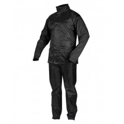 TWO-PIECE WATERPROOF SUIT REBELHORN RAIN BLACK