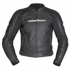 REBELHORN PISTON II BLACK LEATHER JACKET