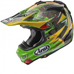 ARAI MX-V TRICKLE GREEN HELMET