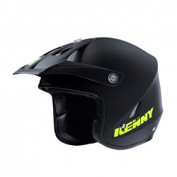 KENNY TRAIL UP HELMET BLACK MATT YELLOW