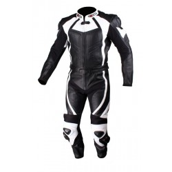 TSCHUL 770 BLACK-WHITE LEATHER SUIT