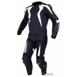 TSCHUL 747 BLACK-WHITE LEATHER SUIT