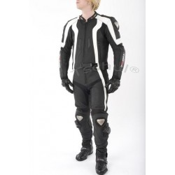 TSCHUL 727 BLACK-WHITE LEATHER SUIT