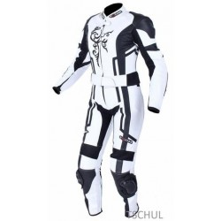 TSCHUL 187 WHITE-BLACK LEATHER SUIT