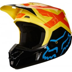 FOX HELMET V2 PREME BLACK/YELLOW