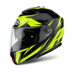 AIROH PHANTOM S EVOLVE YELLOW GLOSS FLIP UP HELMET