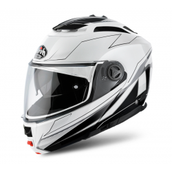 AIROH PHANTOM S SPIRIT WHITE MATT FLIP UP HELMET
