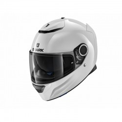 SHARK SPARTAN BLANK INTEGRATED WHITE HELMET
