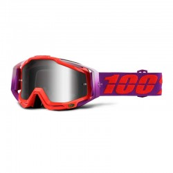 100% RACECRAFT WATERMELON GOGGLES - MIRRORED LENS