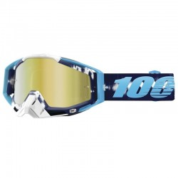 100% RACECRAFT TIEDYE GOGGLES - MIRRORED LENS