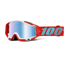 100% RACECRAFT KEPLER GOGGLES - MIRRORED LENS