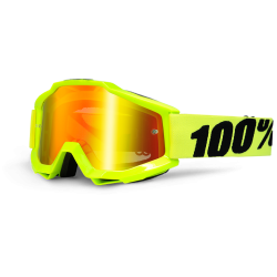 100% ACCURI FLUO YELLOW GOGGLES - MIRRORED LENS