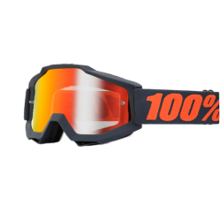 100% ACCURI GUNMETAL GOGGLES - MIRRORED LENS