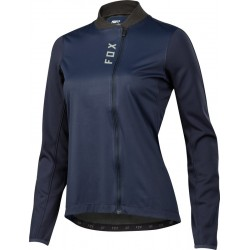 FOX WOMENS ATTACK THERMO JERSEY NAVY