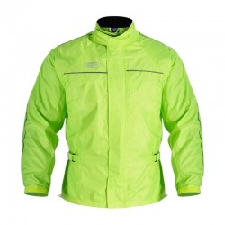 OXFORD RAIN SEALL BLACK JACKET FLUO