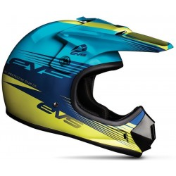 KASK EVS JUNIOR T3 WORKS BLUE/HI VIZ YELLOW
