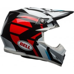 KASK BELL MOTO-9 MIPS DISTRICT WHITE/BLACK/RED