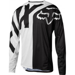 FOX DEMO LS JERSEY PREME WHITE/BLACK 2018