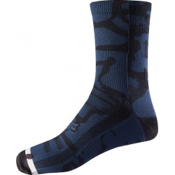 FOX 8 PRINT NAVY/GREY SOCKS