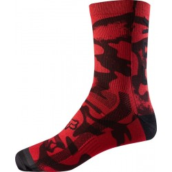 FOX 8 PRINT RED/BLACK SOCKS