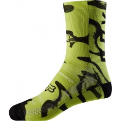 FOX 8 PRINT YELLOW/BLACK SOCKS