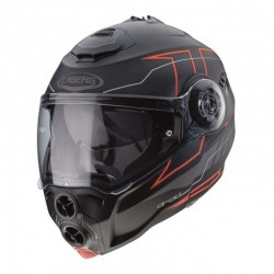 CABERG DROID BLAZE HELMET BLACK MATT/RED FLUO