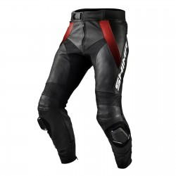 SHIMA STR BLACK RED LEATHER TROUSERS
