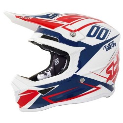 KASK SHOT FURIOUS ALERT BLUE RED PEARLY