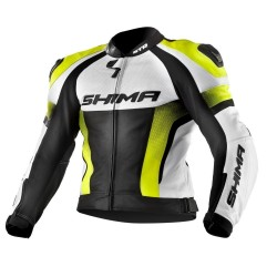 SHIMA STR YELLOW FLUO LEATHER JACKET