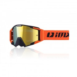 GOGLE IMX SAND BLACK/ORANGE MATT - SZYBA ORANGE IRIDIUM + CLEAR