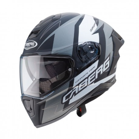 CABERG DRIFT EVO SPEEDSTER F3 MATT BLACK/ANTHRACITE/WHITE HELMET