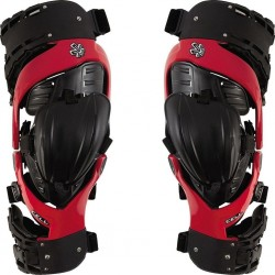 ASTERISK CELL KNEE BRACE PAIR RED/BLACK