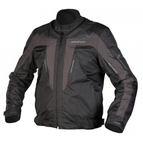 REBELHORN CHASE BLACK GREY TEXTILE JACKET