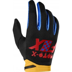 FOX DIRTPAW CZAR BLACK/YELLOW GLOVES
