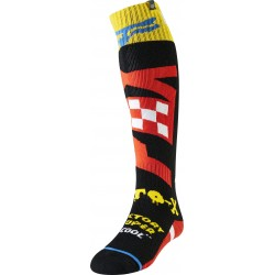 FOX FRI THIN CZAR SOCKS BLACK/YELLOW