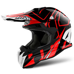 KASK AIROH TERMINATOR OPEN VISION SHOCK RED GLOSS