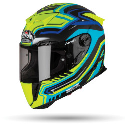 KASK AIROH GP 500 RIVAL BLUE GLOSS S