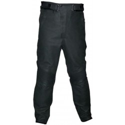 LEATHER TROUSERS REBELHORN SIDE BLACK
