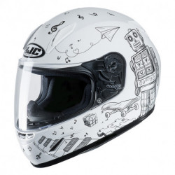 KASK HJC JUNIOR CL-Y WAZO WHITE/BLACK
