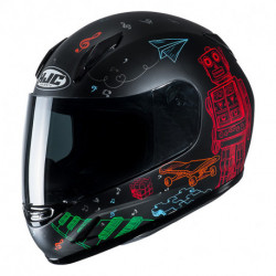 KASK HJC JUNIOR CL-Y WAZO BLACK/RED