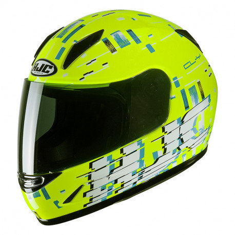 KASK HJC JUNIOR CL-Y GARAM YELLOW/BLUE S