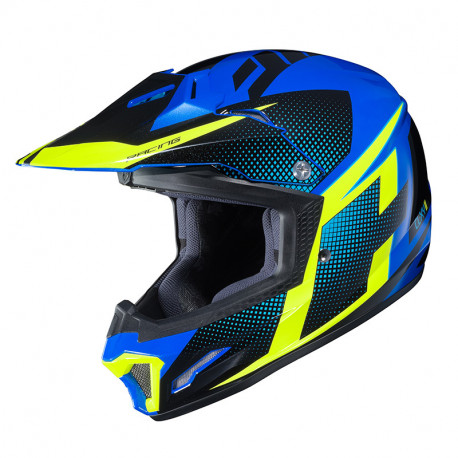KASK HJC JUNIOR CL-XY II ARGOS BLUE/YELLOW S
