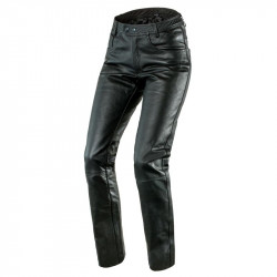 OZONE DAFT LEATHER PANTS BLACK