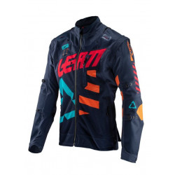 LEATT GPX 4.5 X-FLOW JACKET INK/ORANGE