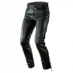 OZONE HEAVY LEATHER PANTS BLACK