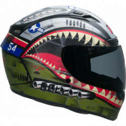 KASK BELL QUALIFIER DLX MIPS DEVIL MAY CARE OLIVE MATT