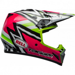 KASK BELL MX-9 MIPS TAGGER ASYMETRIC PINK/GREEN