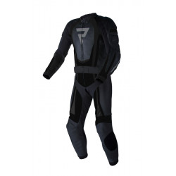 REBELHORN PISTON II PRO BLACK LEATHER SUIT 2PC