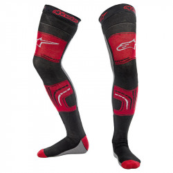 ALPINESTARS KNEE BRACE SOCKS BLACK/RED/GREY